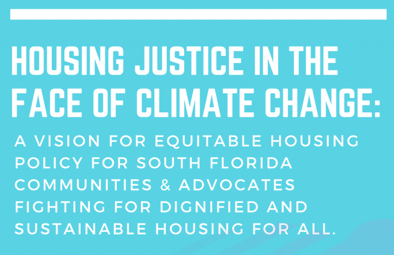 Housing Justice in the Face of Climate Change